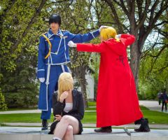 Flame vs Full Metal [Edward Elric] by BlueWingXIII