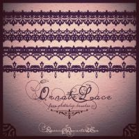 Free Vintage Laces Brush Set by Romenig