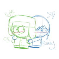 PC-Kyle and Emily by PurpleBea
