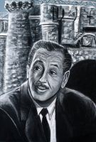 Walt Disney Charcoal Portrait by Tater-Vader