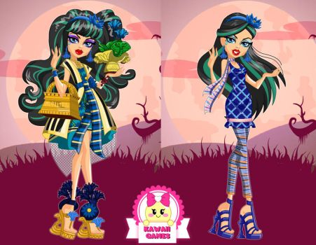 Monster High Cleo de Nile Gloom and Bloom Dress Up by heglys