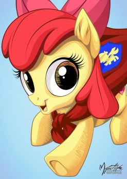 Apple Bloom Caped Crusader by mysticalpha