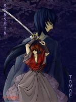 kenshin and tomoe by Starfeather