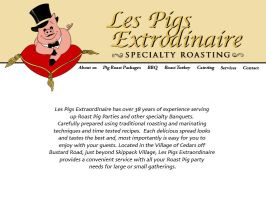 les' pigs about us page by slothsart
