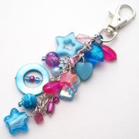 Pink + Blue Bag Charm by fairy-cakes
