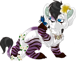 Nili - Royal Flower lion cub by Daffupanda