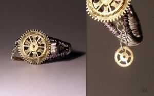 Steampunk ring 8 by TheCraftsman