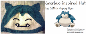 Snorlax Pokemon Hat by Stitch-Happy