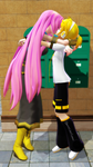 Couples Kiss: Luka X Len by MadNimrod