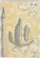 The Flying Ship from my dream by Adnil