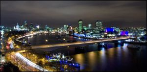 London by Night by Mohain