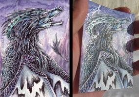 ACEO Shiny Feathers by Sysirauta