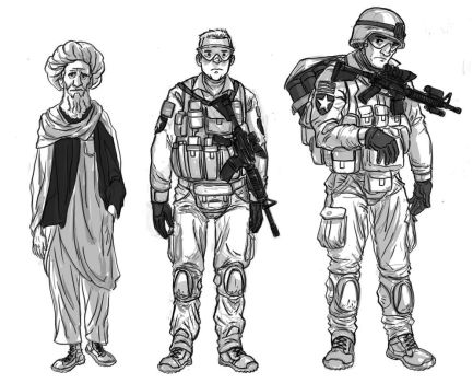 War is Boring character design by hippybro