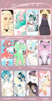 cocoaferret's 2014 Summary of Art template by foxxtrot