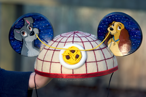 Lady and the Tramp Mickey Ear Hat by BrittyDee