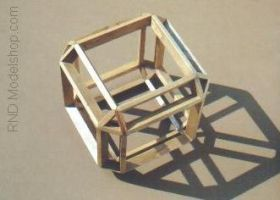 Beveled Cube Wood Model by RNDmodels