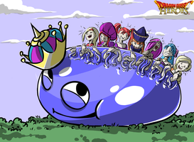 Dragon Quest Heroes Tickles by PawFeather