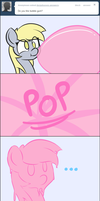 Derpy VS. Bubble Gum by adamscage