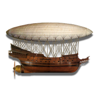 Steampunk Victorian Airship Icon by pendragon1966