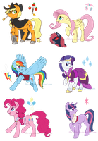 Mane 6 - Hunter AU by The-Chibster