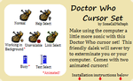Doctor Who Cursor Set by SomeCallMeSteph