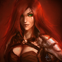 Katarina Sketch by raikoart