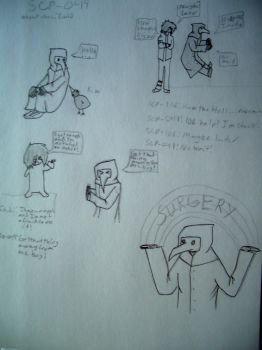 Random SCP-049 drawings by ToxicF4ux