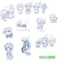F'd Up Naruto chibis by thegreatlimechan