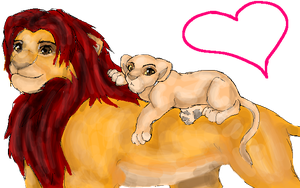 TLK- Simba and Kiara by davistownusa
