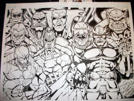 Villain Line up by Furry-Space-Heater
