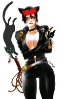 Gotham city-cat woman- by La-h-i-n-a-y-u-m-e
