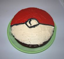 Pokeball Cake by IrisAngel131