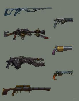 Fantasy guns by Kozivara
