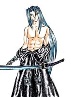 Topless Sephiroth by Penthious