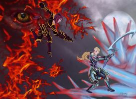 Diana VS Shyvana: League of Legends by Zchanning