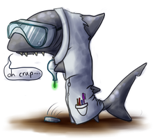 Scientist Shark by TinTans