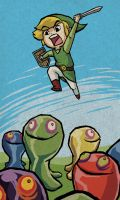 Link vs the Slimes by TipsyKipsy