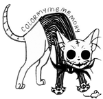 Cat Skellington (stretch) by ColorMyMemory