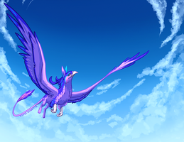 Through the Skies by Paper-Rabbit