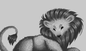 a very fuzzy lion by PromisePeach