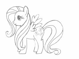 Fluttershy sketch by Gotelc