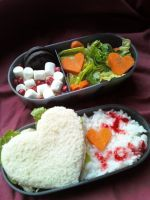 V-day Bento by Poke-Rain