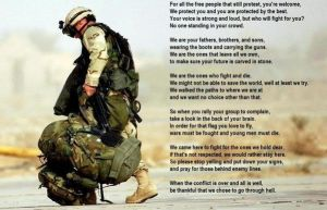 An American Soldier's thought by Mishi-Nagano