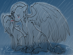In the rain by ThaMutt