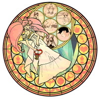 KH Stained glass- ChibiUsa by CL-Pinkskull