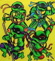 TMNT Color by DaveSchultz