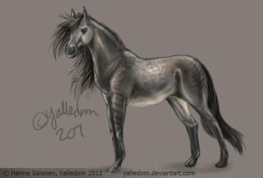 Grey horse by Bombuska