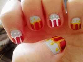 holiday nails by hellohappycrafts