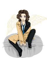 Female Castiel by PsychoMariku