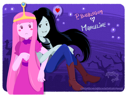 AT: PB and Marceline by rinacat